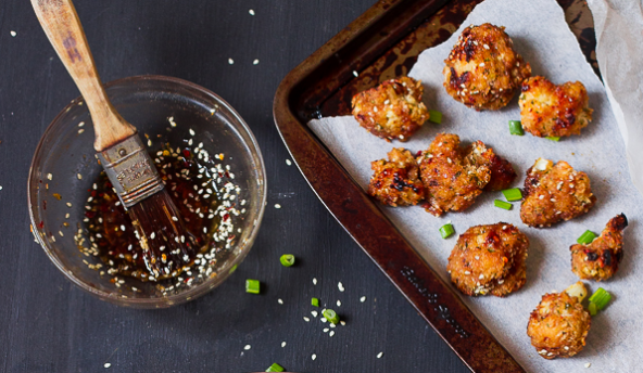 Sticky Sesame Vegan Cauliflower Wings #cauliflower #food