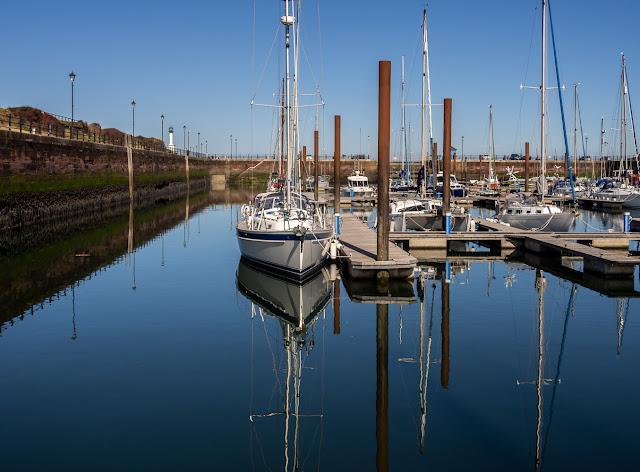 Photo of Maryport Marina on Saturday afternoon