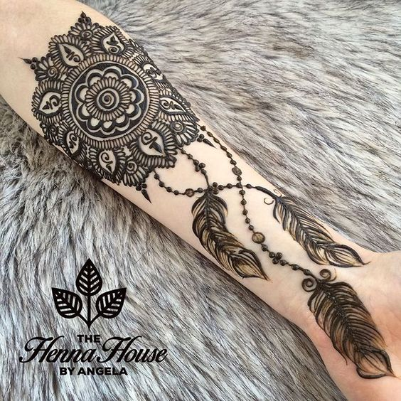 Henna Zone نقوش حناء جديدة على شكل ريشة لن تجديها في مكان اخر