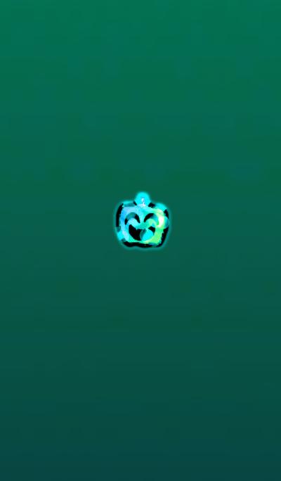 Pumpkin Ghost Green Blue