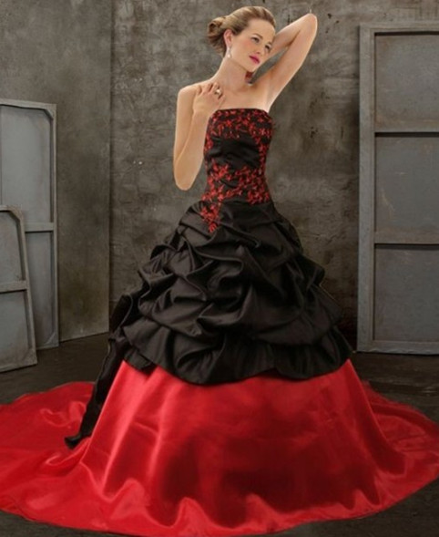 Red And Black Wedding Dresses: Devilinspired Gothic Clothing: Black And Red Gothic