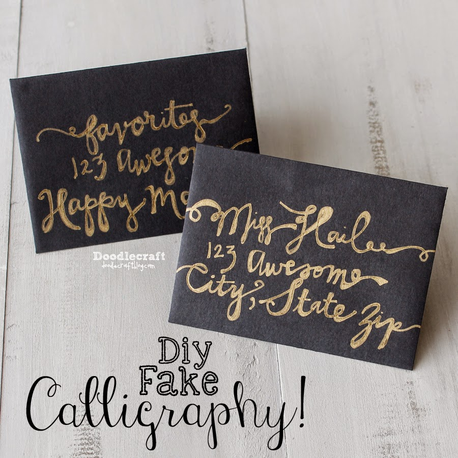 How To Fake Script Calligraphy
