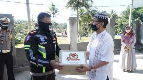 Ditlantas Polda Sumbar Bantu Panti Asuhan Muhammadiyah Batipuh