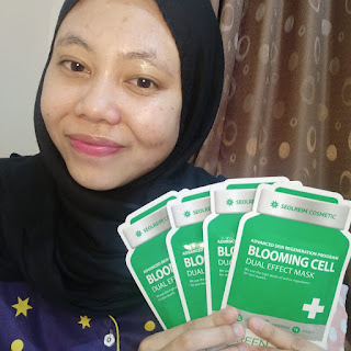 SEOLREIM COSMETIC BLOOMING CELL DUAL EFFECT MASK GREEN REVIEW