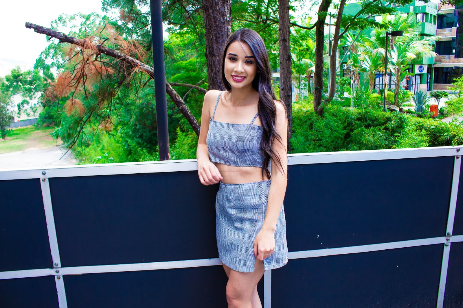 Look do dia: Conjuntinho saia e cropped
