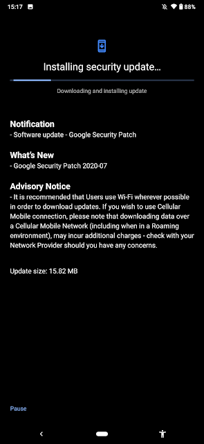 Nokia 7.2 receiving July 2020 Android Security patch