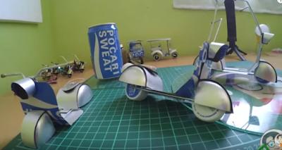 Cara Membuat Miniatur Vespa Dari Kaleng dan Korek Gas Bekas