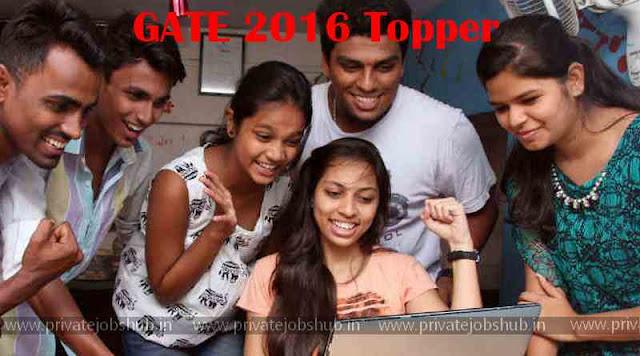 GATE 2016 Topper