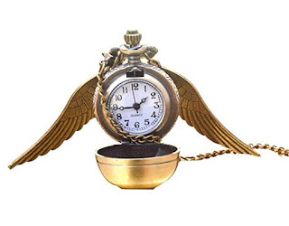 Flying ball retro angel wing steampunk pocket watch necklace
