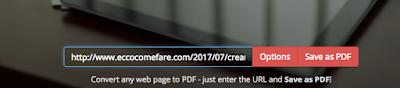 salvare pagina web in pdf