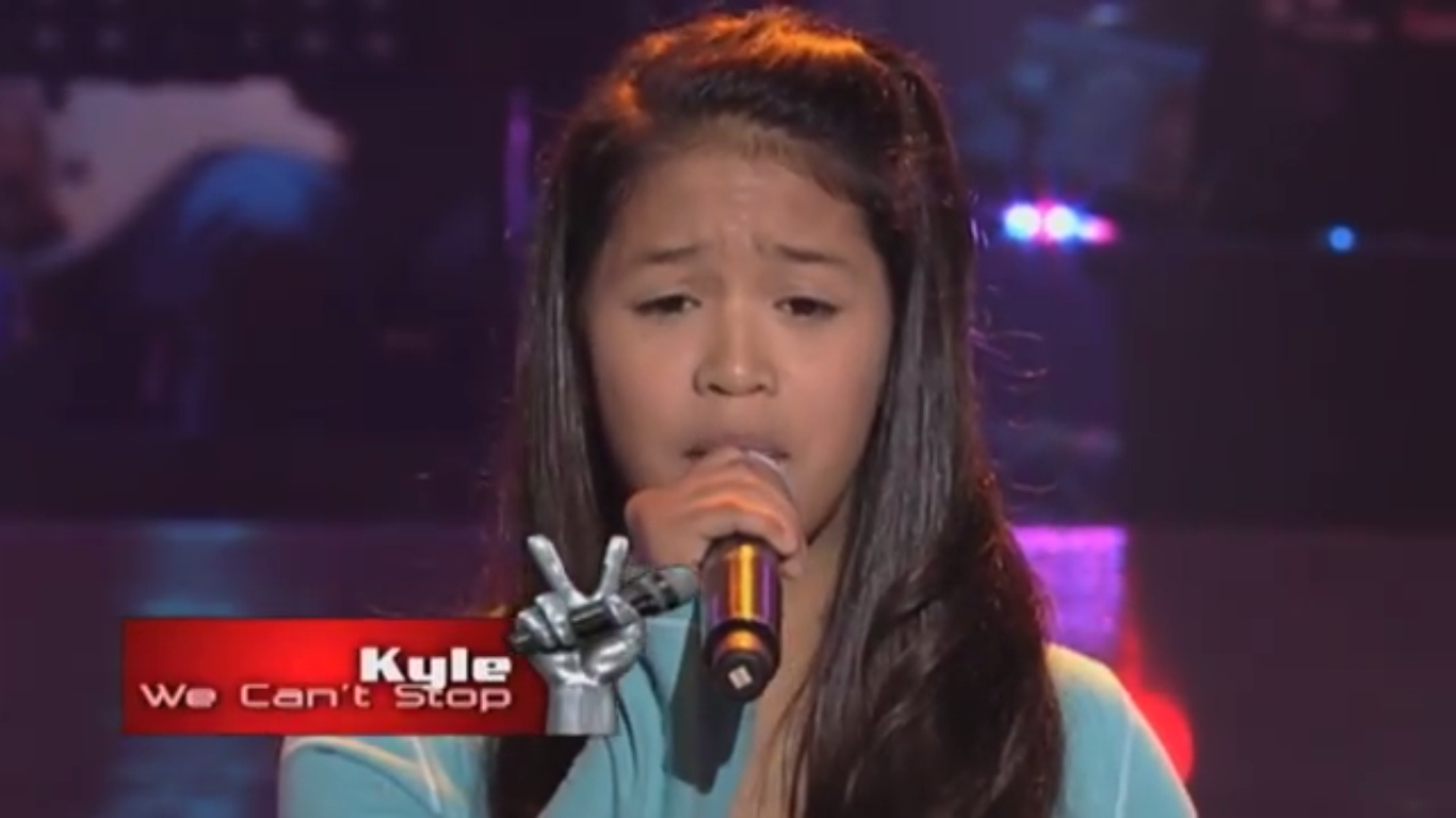 13 Year Old contestant on June 15 sings Miley Cyrus' hit We Can't Stop