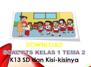 Soal PTS Kelas 1 Tema 2 K13 SD dan Kisi-kisi
