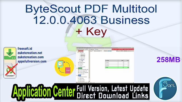 ByteScout PDF Multitool 12.0.0.4063 Business + Key