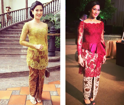 model baju batik kebaya artis