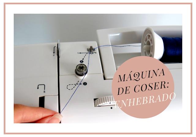 Cabecera enhebrado máquina de coser