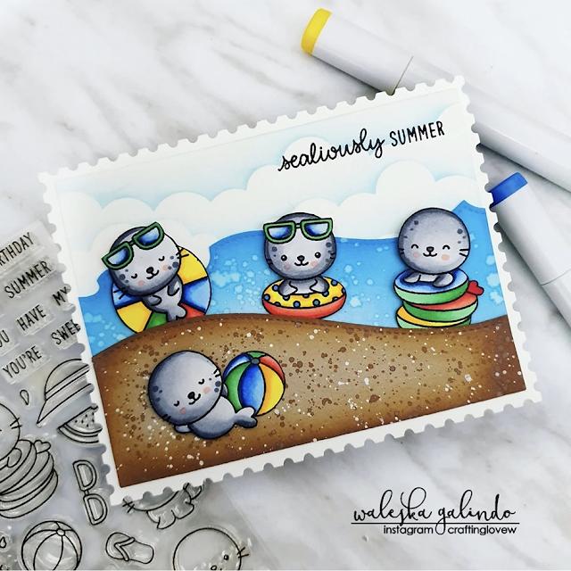 Sunny Studio Stamps: Sealiously Sweet Customer Card by Waleska Galindo