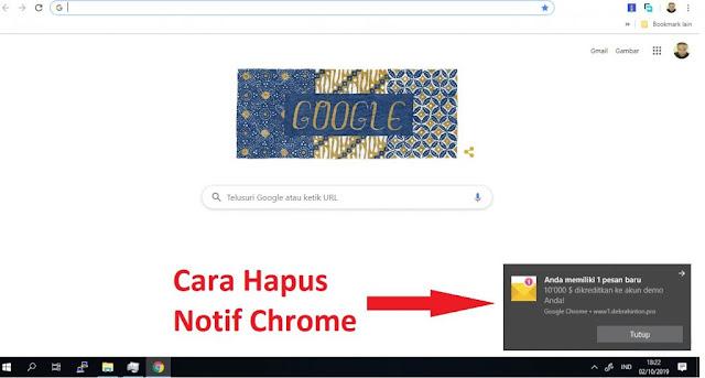 Iklan Popup Chrome