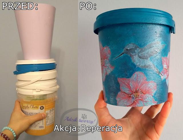 Akcja Reperacja u Adzika - doniczki z plastikowych opakowań