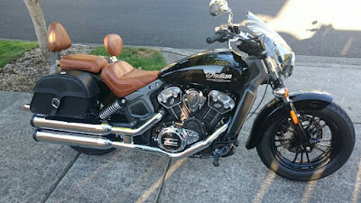 2016 Indian Scout Sixty Cruiser Motorcycle black color