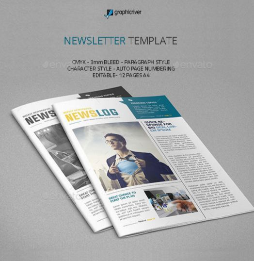 90+ Best Printable Newsletter Templates Indesign Indd & Pdf