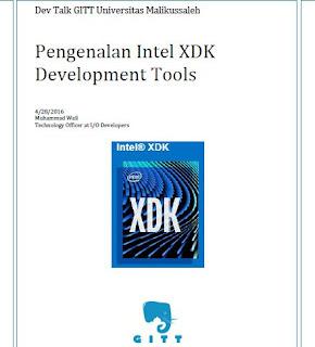 Bagi-Bagi Ilmu Intel XDK di UKM GITT UNIMAL