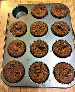 Baked Flourless Chocolate Hazelnut Butter Muffins (Paleo, Gluten-Free, Whole30, Refined Sugar-Free, Dairy-Free, Vegan).jpg