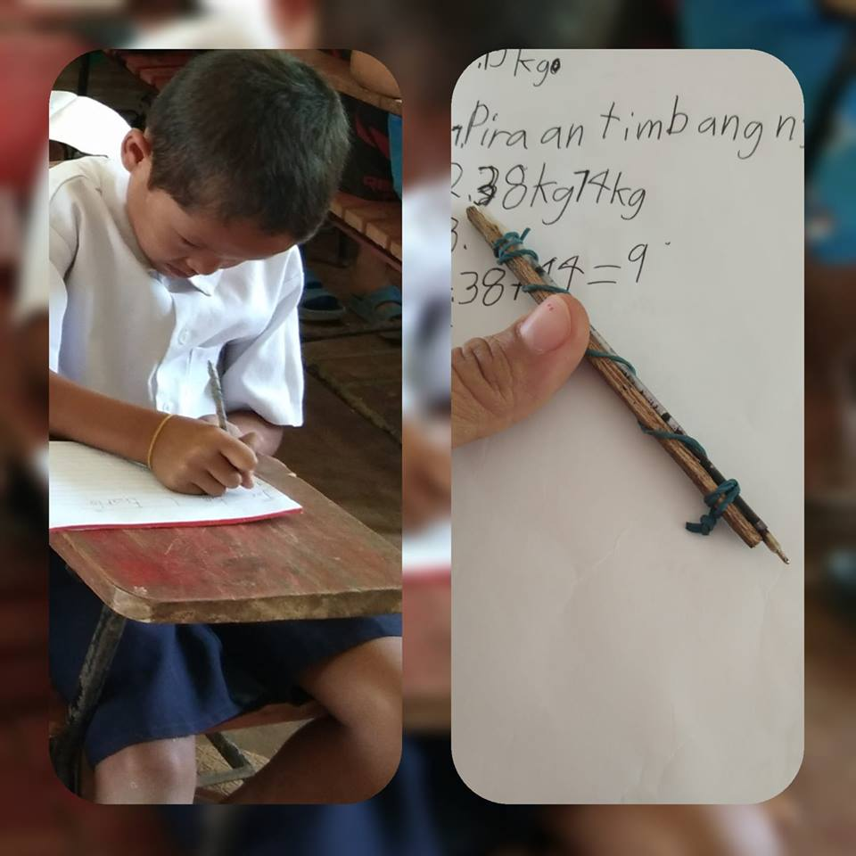 kid ballpen made of wood and rubber band in Samar