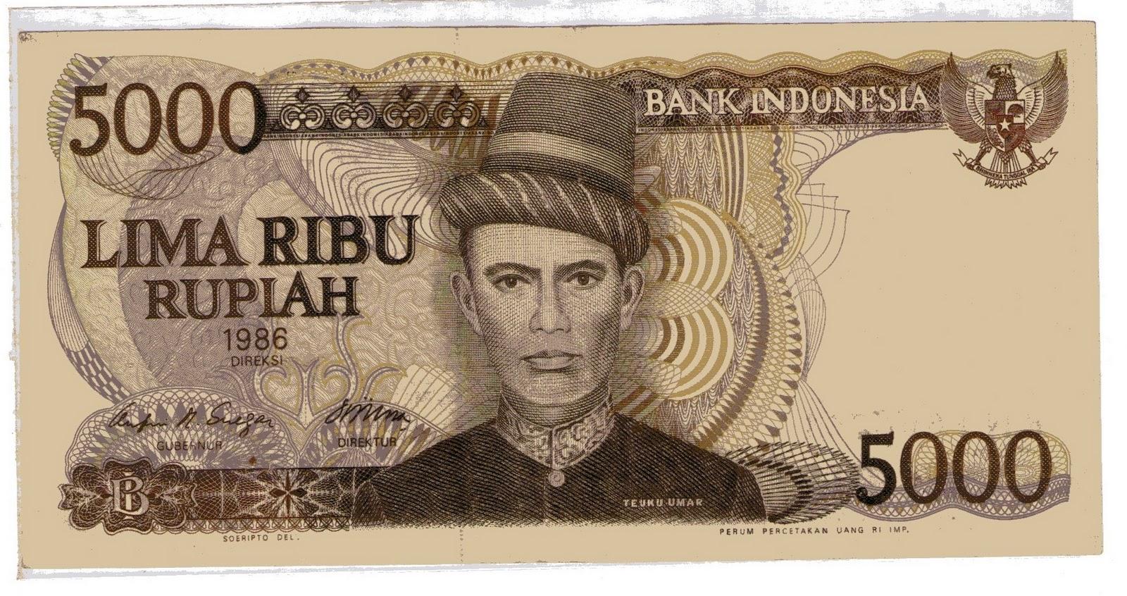 Lima Ribu Rupiah 5000 Tahun 1986