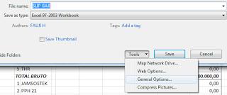 Memasang Password Encripsi Di File Excel