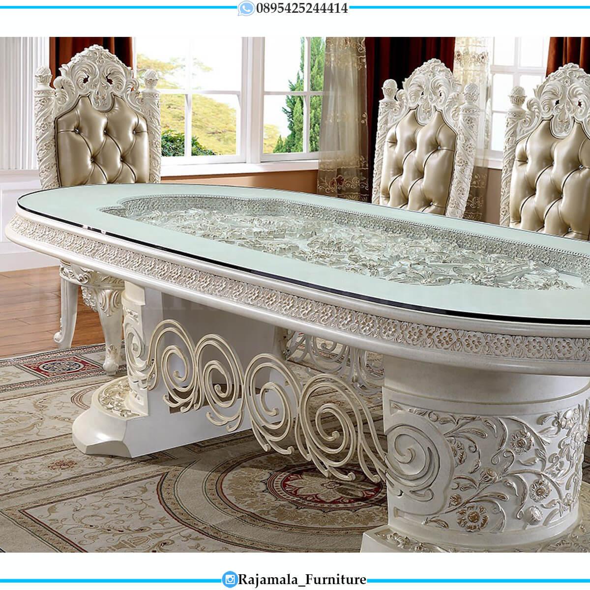 New Set Meja Makan Mewah Luxury Carving Italian Empire Style RM-0715