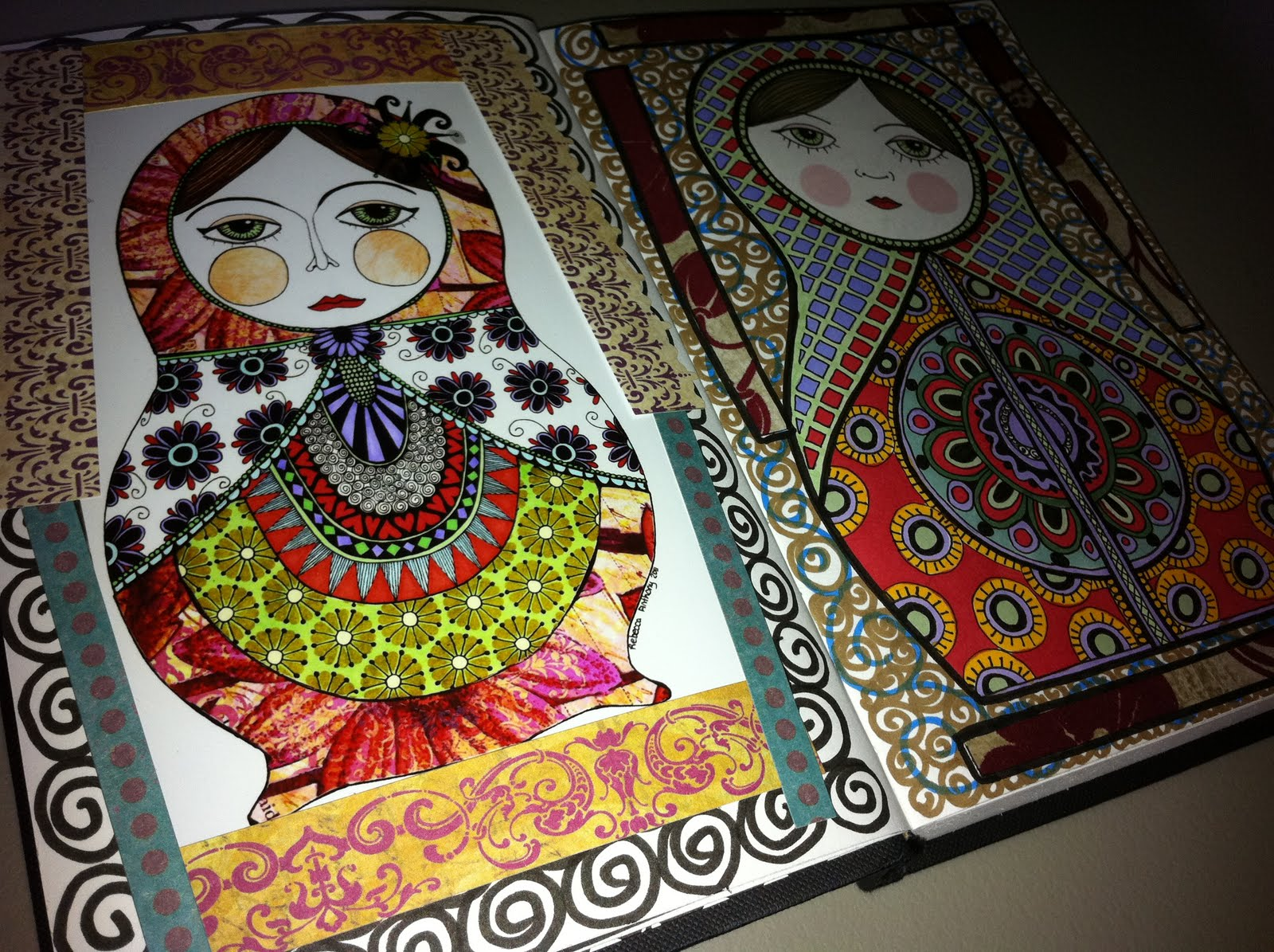 Penny Lane Ink Russian Doll Journal Pages