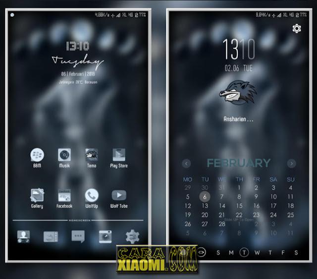 MIUI Thema Dark Wolf Material Desain (Tembus Merubah Tampilan ke WhatsApp, Instagram, BBM)