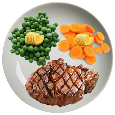 Steak, Carrots and Peas