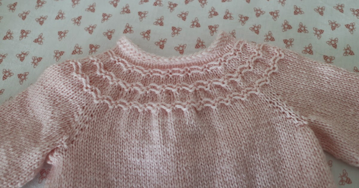 Knitting Pattern For Baby Seamless Yoked Sweater : Lilacs and Springtime: Seamless Yoked Baby Sweater