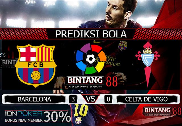 PREDIKSI BOLA - Pada hari Minggu, 10 November 2019 pukul 23:30 waktu indonesia barat akan di adakan laga pertandingan Liga Spanyol antara Barcelona vs Celta de Vigo. Pertandingan ini nantinya akan di laksanakan di Stadion Camp Nou.