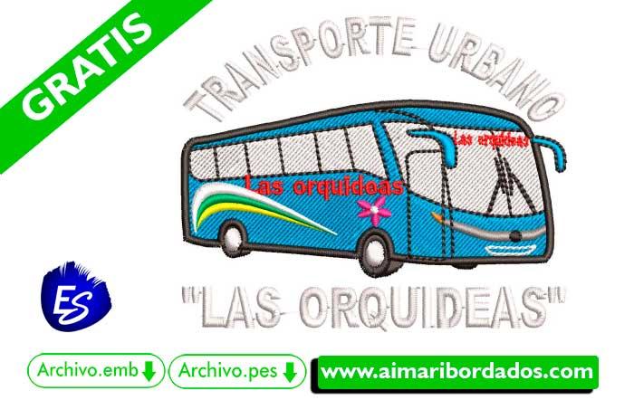 Logo Bus Orquideas Para Bordar
