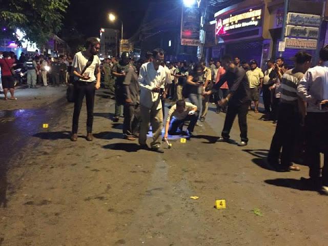 Explosion à Phnom Penh dans la rue 163