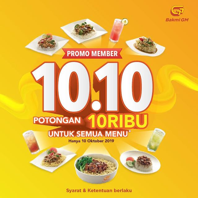 #BakmiGM - #Promo Member 10.10 Potongan 10K All Menu (10 Okt 2019)