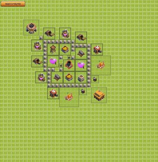 Base Clash of Clans Terbaik TH 3 Farming