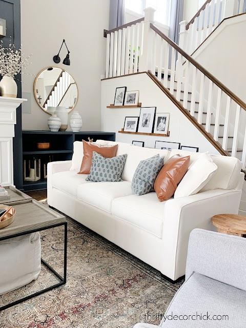 Layla rug white sofa family room