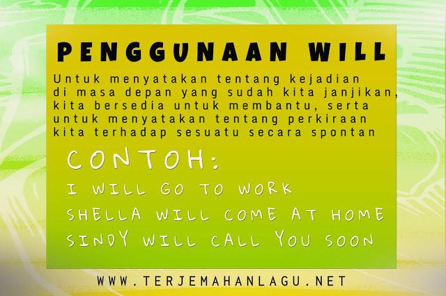 Kata will dalam bahasa inggris