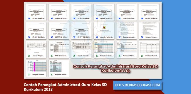 Contoh Perangkat Administrasi Guru Kelas SD Kurikulum 2013