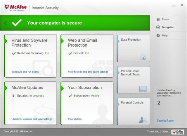 Protect your devices from viruses, malware, and more with McAfee Internet Security 2016