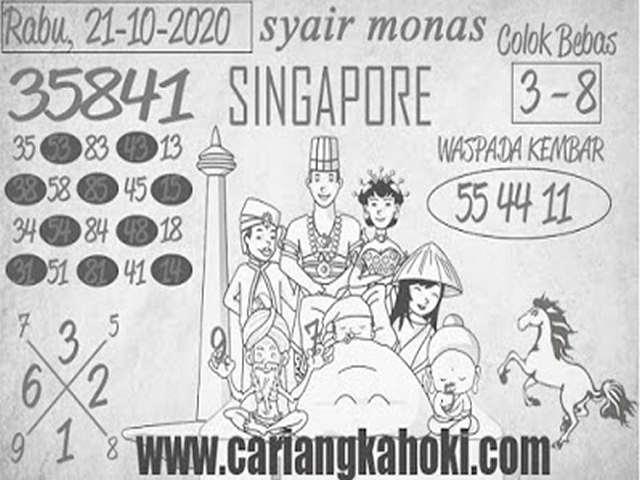 Kode syair Singapore Rabu 21 Oktober 2020 173