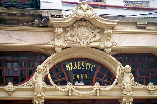 Majestic Cafe Porto Portugal.