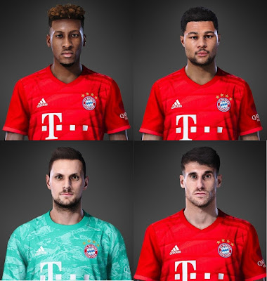 PES 2020 Bayern Munchen Facepack for PES 2019 by Volun