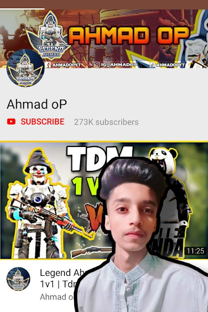 Top 5 Pakistani pubg player Ahmad op the legend - success storie and I'd number, income,real name