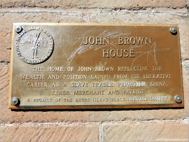 Placa de la Mansión de John Brown, Providence