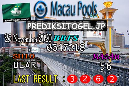 Prediksi Togel Wangsit Macau Pools Senin 23 November 2020