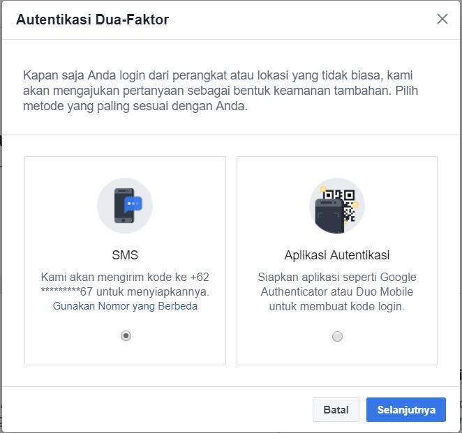 Cara Mengaktifkan Autentikasi Dua Faktor Facebook Teknorizen